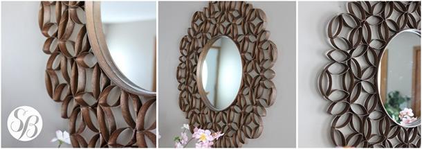Moldura de Espelho com Rolo de Papel Higienico