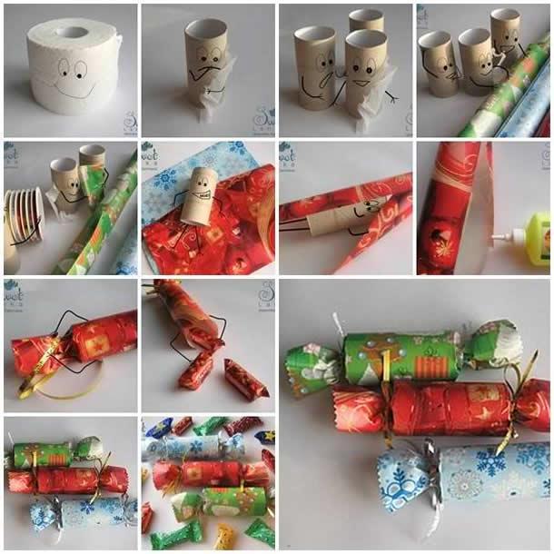 Embalagen de Presentes com Rolo de Papel Higienico