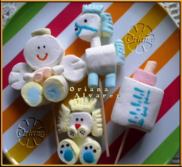 decoracao-com-marshmallow-bonecos
