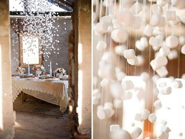 decoracao-com-marshmallow-chuva
