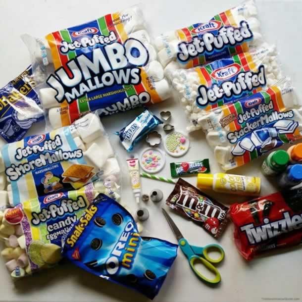 decoracao-com-marshmallow-materiais