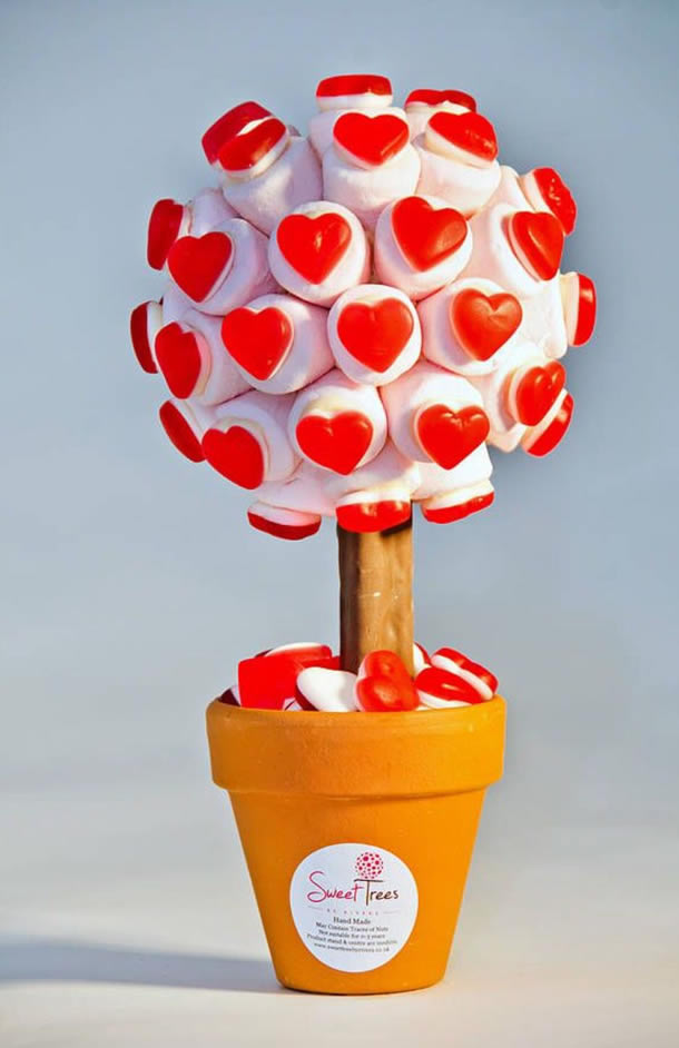 decoracao-com-marshmallow-topiario-coracoes