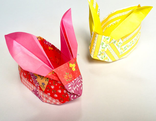 Cestinha de Páscoa Coelho de Origami Passo a Passo