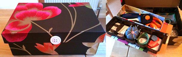 caixa-de-sapatos-decorada-costura
