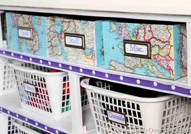 caixa-de-sapatos-decorada-mapas