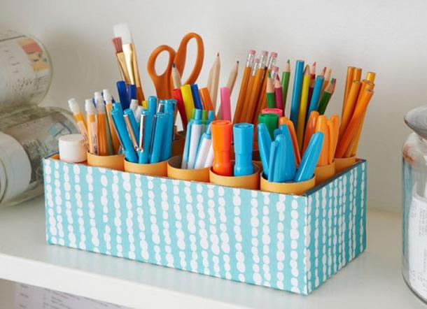 caixa-de-sapatos-decorada-organizador-canetas