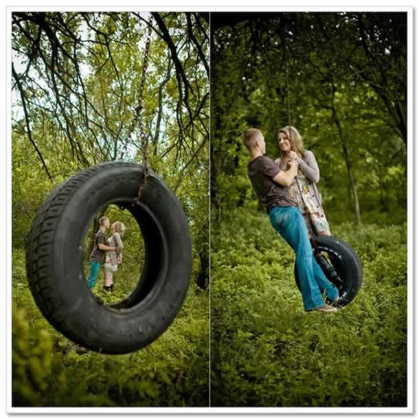 Balanço de pneus reciclados