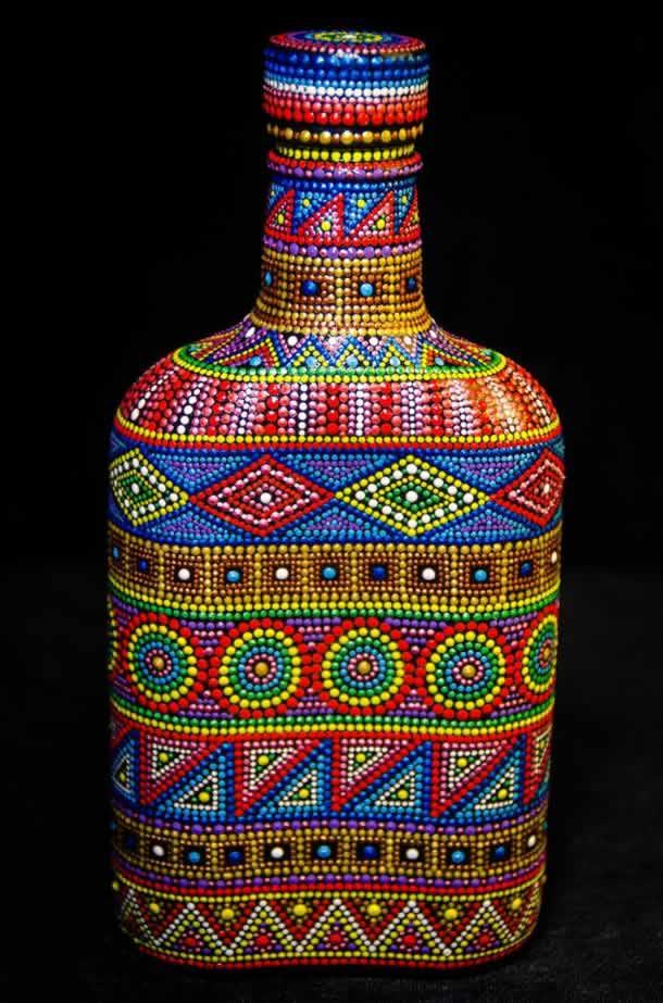 pontilhismo-garrafa-decorada