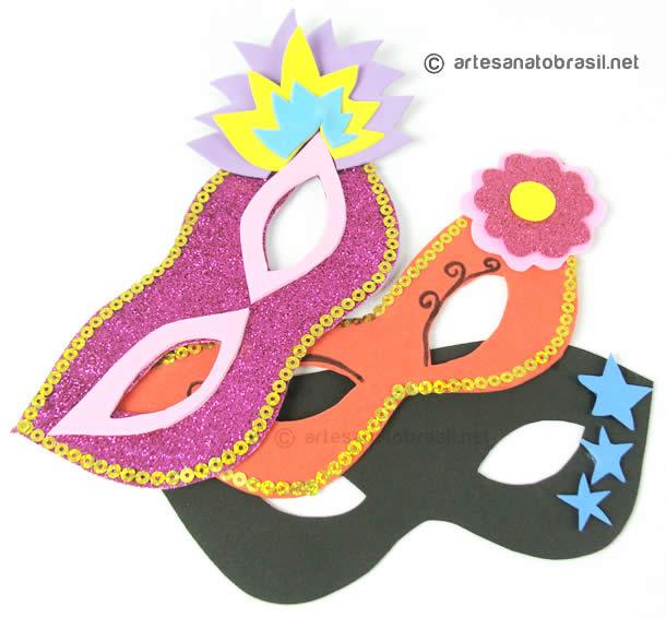 Máscaras de EVA para o Carnaval