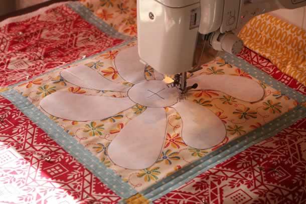 Teste moldes em vários tamanhos no patchwork
