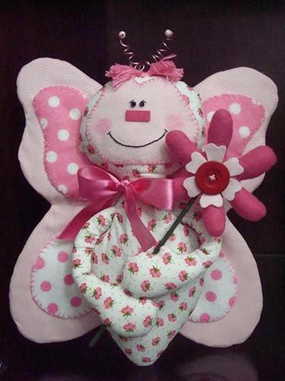 Molde Boneco de pano Borboleta de tecido para Porta Maternidade
