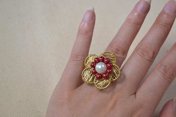 anel-bijuteria-flor-arame