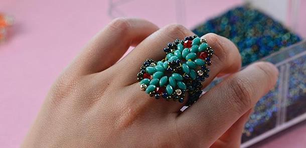 anel-bijuteria-graos-azuis