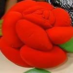 almofada rosa tecido