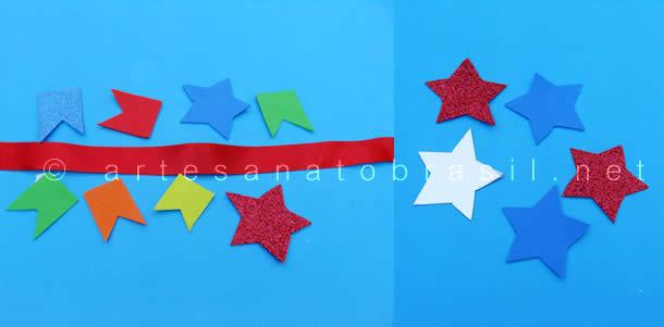 Chapéu Caipira: Corte das Estrelas e Bandeirolas