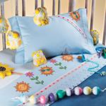 Jogo cama infantil bordado