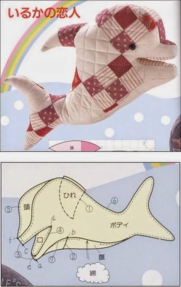 almofada-golfinho-de-tecido-rosa