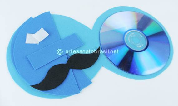 Moldes do Porta CD para o dia dos Pais