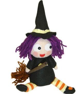 boneca feltro bruxa - artesanatobrasil.net
