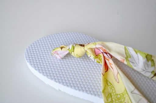 chinelos tecido customizados