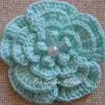 flor azul croche