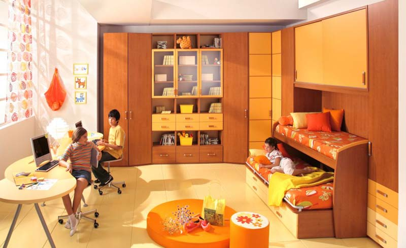 Modelo de quarto decorado para 2 meninas