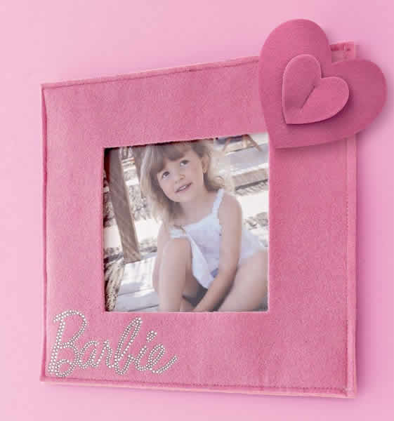 Porta retrato de feltro da Barbie