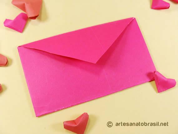 Envelope de coração passo a passo