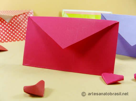 Como Fazer Envelope de Coração