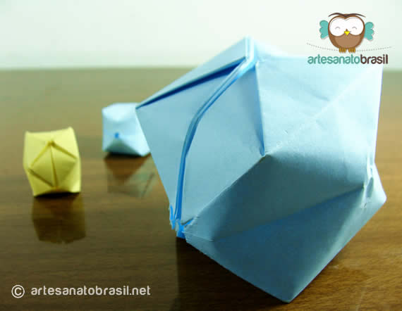 Balão de papel passo a passo
