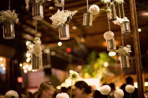 Latas de aluminio decoracao de casamento