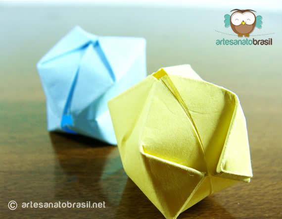 Mini balão de papel