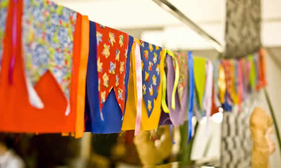 Bandeirinas de Patckwork para festas juninas