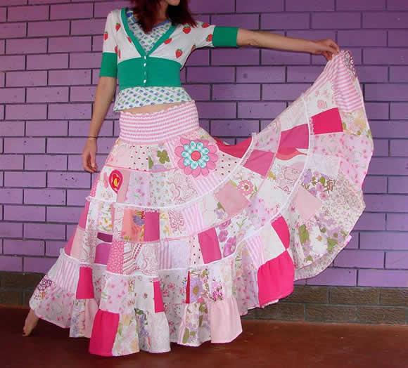 Roupas de Patchwork - Vestidos, saias e roupa infântil