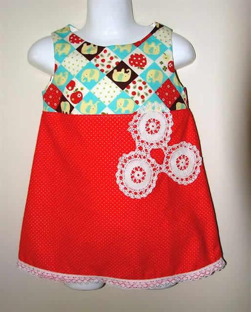 Vestido Infantil de Patchwork