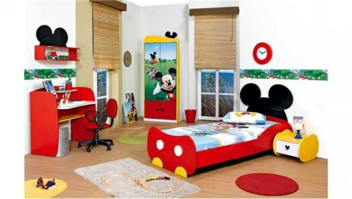 Quarto decorado do Mickey