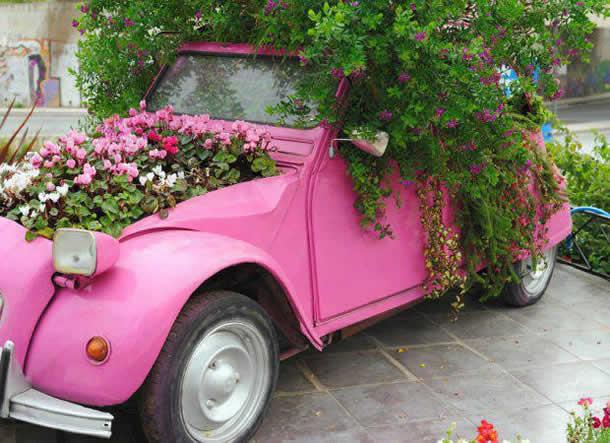 Criando um Jardim com Fusca Rosa e Velho (Artesanato com Reciclagem)