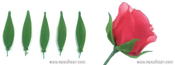rosa-de-meia-de-seda-passo-a-passo-folhas