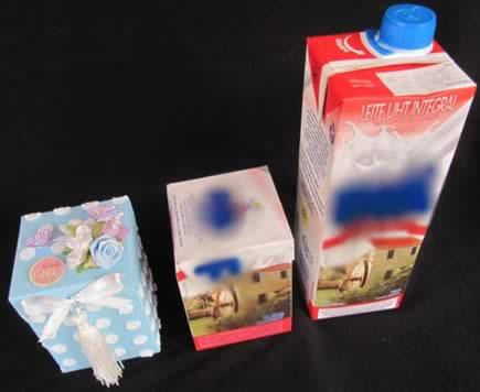 caixinha de leite reciclada