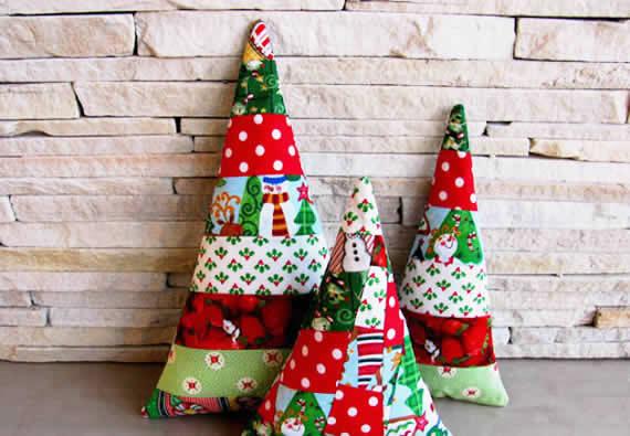 Árvore de Natal com Patchwork