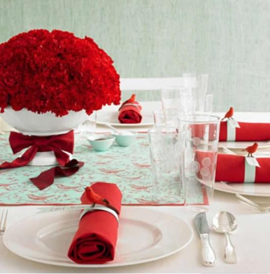Decoracao de Natal para mesa de jantar