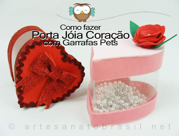 Modelo de Porta Jóias de Garrafas Pet