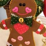 biscoito de natal de feltro