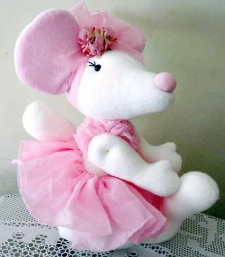boneca de pano ratinha bailarina
