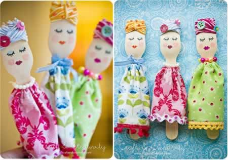lembrancinha bonecas de colher de pau