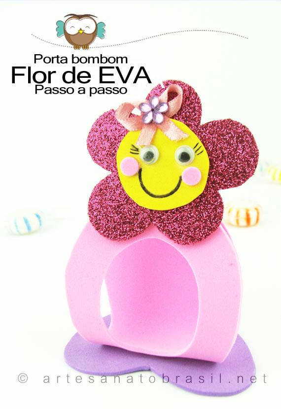 Lembrancinha Porta bombom de Flor para Dia das Crianças