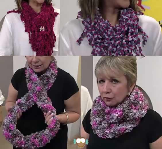 Como fazer cachecol de trico