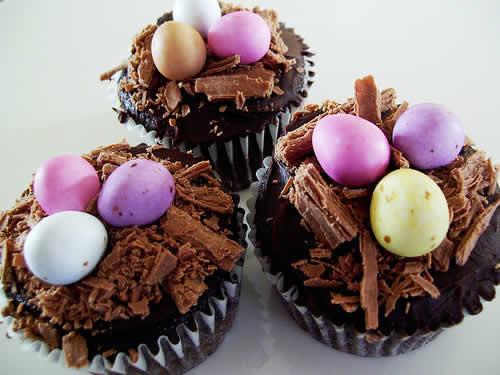 Cupcakes de Páscoa de Ovos de chocolate