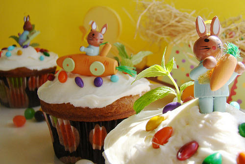 Cute Food Easter Cupcakes