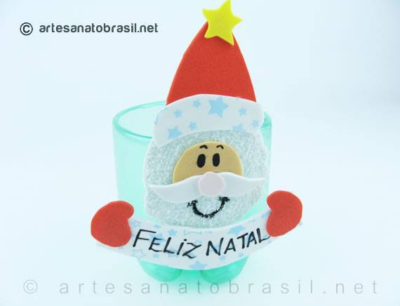 Pronta-Lembrancinha-natal-Garrafa-Pet-Papai-Noel